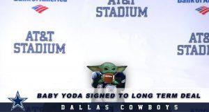 Dallas Cowboys Sign Baby Yoda to Long-Term Deal