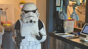 Stormtrooper Bloodied by Police on May the 4th