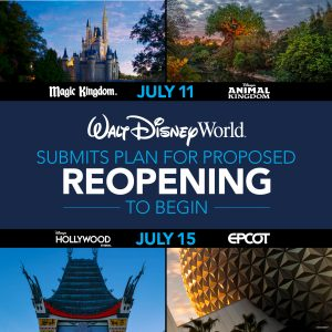 Walt Disney World Announces July Reopening!